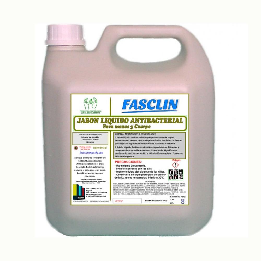 Jabón líquido Antibacterial para manos y cuerpo